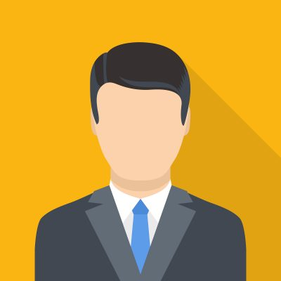 Businessman icon. Flat illustration of businessman vector icon for web